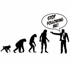 H202 STOP FOLLOWING ME MONKEY funny humor geek swag 80s T-shirt