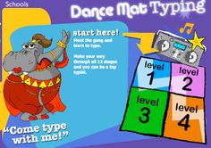 Dance Mat Typing - Free Online Typing Lessons for Kids Fun Learning, Learning Activities, Teaching Kids, Teaching Tools, Teaching Resources, Intj, Alone, Learn To Type, Online Typing