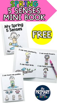 The Primary Post: Spring 5 Senses Mini Book FREEBIE