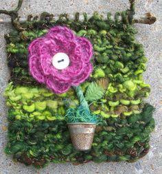 Bits and Treasures Knit Mixed Media Wall by AngieHallHaviland