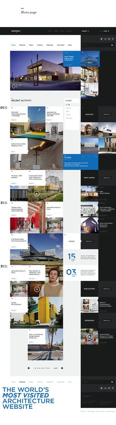 ArchDaily.com - Redesign concept on Behance