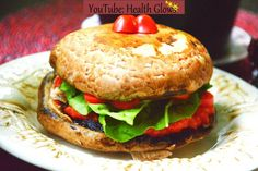 Raw burger is easily made: use portabello mushrooms as a bun and fill it up with your favorite veggies!