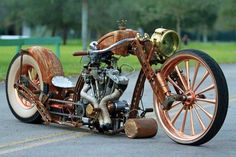 awesome steampunk rat bike!