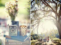 stylized vintage picnic photo session   jen + jason » Caroline Tran Photographer – Los Angeles Wedding Photography