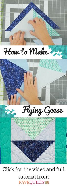 This How to Make Flying Geese Tutorial also has the history, the variations, and more! Quilting Tips, Free Motion Quilting, Quilting Tutorials, Machine Quilting, Quilting Projects, Sewing Projects, Beginner Quilting, Amish Quilt Patterns, Sampler Quilts