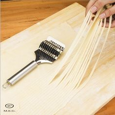 Noodle Roller Cutter,Muxika High Grade Stainless Steel Noodle Lattice Roller Docker Dough Cutter Pasta Spaghetti Maker for Kitchen Cooking Tools -- Check out this great product. (This is an affiliate link) Pancake Maker, Noodle Maker, Dough Cutter, Spaghetti Noodles, Wedding Cups, Kitchen Helper, Helfer, Cooking Tools, Cooking 101