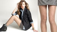 Hairy stockings for women practical for the office?  Whatever it takes to get equal pay!
