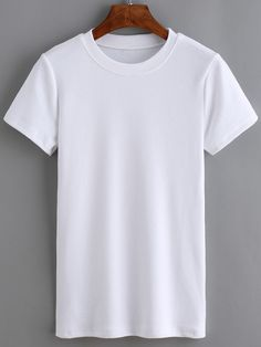 Crew Neck White T-shirt White Tees, Crew Neck, Mens Tops, T Shirt, How To Wear, Outfits, Clothes, Ava, Goals