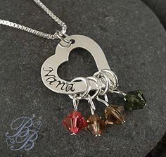 Mother's Necklace  Grandma's Necklace  Hand by BeautifullyBranded, $43.00