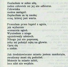 Świrszczyńska Poem Quotes, Life Quotes, Good Sentences, I Am Sad, Pretty Words, Some Words, Powerful Words, Word Art, Slogan