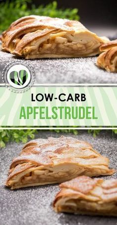 The low-carb apple strudel is incredibly tasty, low in carbohydrates and gluten-free. The low-carb apple strudel is incredibly tasty, low in carbohydrates and gluten-free. Healthy Low Carb Dinners, Best Low Carb Recipes, Low Carb Lunch, Low Carb Pizza, Low Carb Dinner Recipes, Low Carb Desserts, Supper Recipes, Meat Recipes, Fast Low Carb