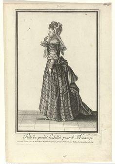 Fille de qualité habillée pour le Printemps, Nicolas Arnoult, 1688