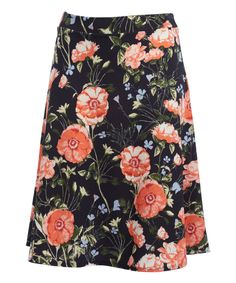 Take a look at this BellaBerry USA Coral Floral Skirt - Plus today!