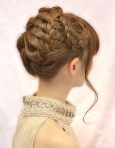 Total french braid updo