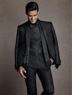 2014formalwear-13   Corneliani . micro-effect glossy wool / silk suit.
