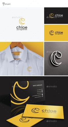 Chloe - Letter C Logo by Tenuart Logo Template Features A modern and simple logo CMYK Editable and resizable vector files Editable text and color Included AI, PSD Graphic Design Tips, Best Logo Design, Logo Design Inspiration, Logos, Logo Branding, Branding Design, Chloe Logo, Creative Logo, Creative Design