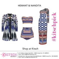 #KitschPick: We are absolutely drooling over these colorful retro silhouettes in Hemant & Nandita's Spring Summer 2015 collection,available at #Kitsch.Which still are you coveting?