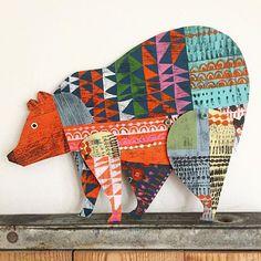 Great art inspiration for a kids project (Canas Verdes: - Tragen Animal Projects, Art Projects, Arte Elemental, Origami, Illustration, Middle School Art, Art Classroom, Art Club, Art Plastique