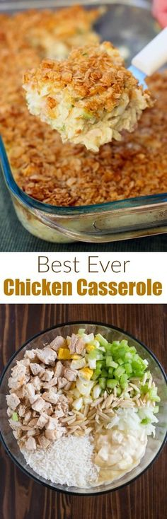 Four Kitchen Decorating Suggestions Which Can Be Cheap And Simple To Carry Out Mom's Classic Chicken Casserole Recipe Is Warm Comfort Food That Your Whole Family Will Love Chicken Casserole, Casserole Dishes, Casserole Recipes, Chicken Rice, Pollo Guisado, Easy Weeknight Meals, One Pot Meals, Food Dishes, Main Dishes