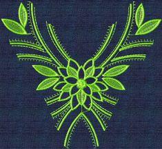embroidery neckline designs