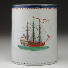 CHINESE EXPORT MUG FOR THE AMERICAN MARKET, circa 1795.