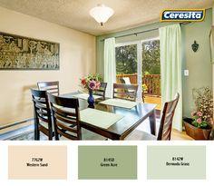 #comedor #ceresitaCL #PinturasCeresita #decoración #colores *Códigos de color sólo para uso referencial. Los colores podrían lucir diferentes, según calibrado de su monitor.