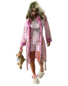 Walking Dead Little Girl Zombie Adult Women's Costume
