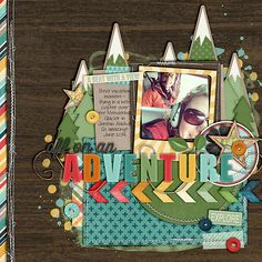 Are We There Yet by Melissa Bennett & Studio Flergs all stitching by Erica Zane Background Noise by Jennifer Barrette DJB Love Me Some Cele. Travel Scrapbook Pages, Vacation Scrapbook, Scrapbook Layout Sketches, Scrapbooking Layouts, Digital Scrapbooking, Scrapbook Paper Crafts, Scrapbook Cards, Paper Crafting, Birthday Scrapbook