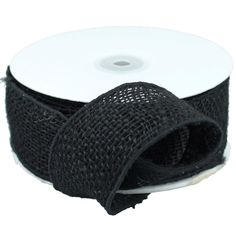 Stylish black burlap ribbon is sure to leave a lasting impression for your party decorations. Consider decorating your burlap with our beautiful selection of lace ribbon