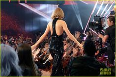 Taylor Swift Uses Calvin Harris' Real Name in iHeartRadio Acceptance Speech (Video): Photo #951214. Taylor Swift can barely contain her joy while accepting the award for Best Tour on stage at the 2016 iHeartRadio Music Awards held at The Forum on Sunday (April…