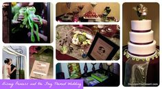 Disney Princess and the Frog themed wedding - Add in Princess and the Frog décor like lily pads, movie clipart, and little plush frogs… and you have got a beautiful wedding theme!