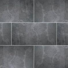 Stone Design Thin Flexible x Natural Stone Field Tile in Black Slate Slate Stone, Stone Tiles, Natural Stone Wall, Natural Stones, Mosaic Tiles, Wall Tiles, Fireplace Facade, Ceramic Subway Tile, Slate Flooring
