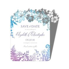 Blissfully Framed - Signature Laser Cut Save the Dates - Lady Jae - Violet - Purple : Front