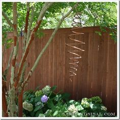 DIY Copper Garden Projects • Lots of Ideas & Tutorials! Including this cool diy outdoor copper mobile from 'sand and sisal'.