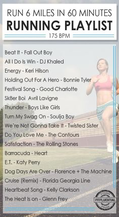 This feel-good playlist is the perfect tempo for your next run! Keep the pace with this running playlist for 10 minute miles.: