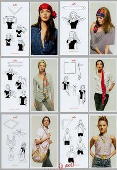 Como usar panuelos de seda