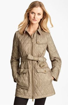 Cinched Waist Quilted Jacket | Burberry | Things I Would Like To ... : nordstrom burberry quilted jacket - Adamdwight.com