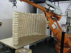 robotic brick wall assembly photo