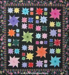 Midnight in the Garden...of Good & Sweet Quilt Pattern. Available exclusively through Victoriana Quilt Designs here: http://www.victorianaquiltdesigns.com/VictorianaQuilters/PatternPage/MidnightintheGarden/MidnightintheGarden.htm #quilting