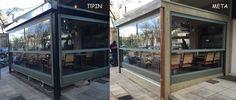 HACIENDA CAFE - επένδυση ξύλου εξωτερικά σε μεταλλική κατασκευή