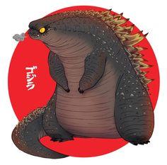 The world ends, Godzilla begins - Olivier Silven.