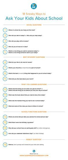 "Met with silence when you ask your kids about school? Check out these 18 sneaky ways to get your kids talking. These questions to ask kids will get them talking about their day other than the typical ""How was your day?"" Comes with a FREE downloadable checklist. Perfect for the first day of school!"