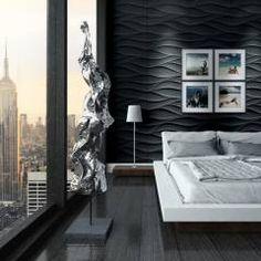 3D Wandpaneele - einzigartige Atmosphäre in Ihrem Schlafzimmer: klassische Schlafzimmer von Loft Design System Deutschland