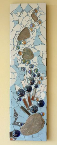 I like the blue grout Mosaic Tile Art, Mirror Mosaic, Mosaic Crafts, Mosaic Projects, Stone Mosaic, Mosaic Glass, Mosaic Designs, Mosaic Patterns, Mosaic Madness