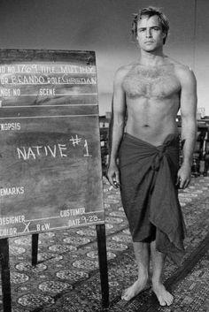 "Marlon Brando - wardrobe test for ""Mutiny On The Bounty"", 1962 Hollywood Icons, Vintage Hollywood, Hollywood Stars, Classic Hollywood, Hollywood Actresses, Marlon Brando, Tab Hunter, Kino Theater, Foto Glamour"