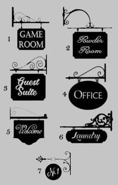 Sign Decal for Walls - Powder Room Laundry Room Office Guest Room Pantry etc. by PlushTennessee Decoration Restaurant, How To Remove, How To Apply, Guest Room Office, Print Fonts, Shop Fronts, Adhesive Vinyl, Blacksmithing, Laundry Room