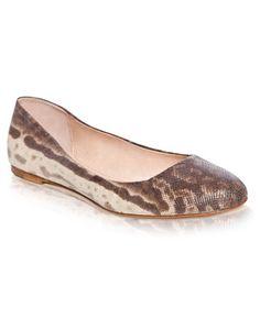 snake skin ballet flats