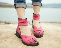 3 Colors! Handmade Women Leather Shoes, Ankle Wrap Sandals,Leather Sandals for Girls, Casual Shoes,