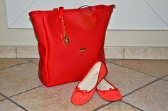 mundo de caty: I PUPI, la mia scelta 100% made in Italy, borsa shopping CUSTO rossa #borsa #borse #ipupi #bag #bags @IPUPI #rossa #rosso