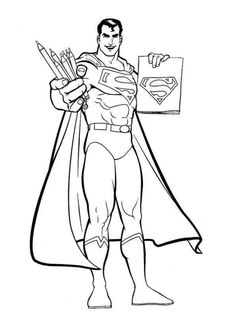 Superman Coloring Pages title color me Pinterest Printable